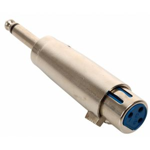 Adaptador de plug 6,3 mm a jack Cannon, monoaural